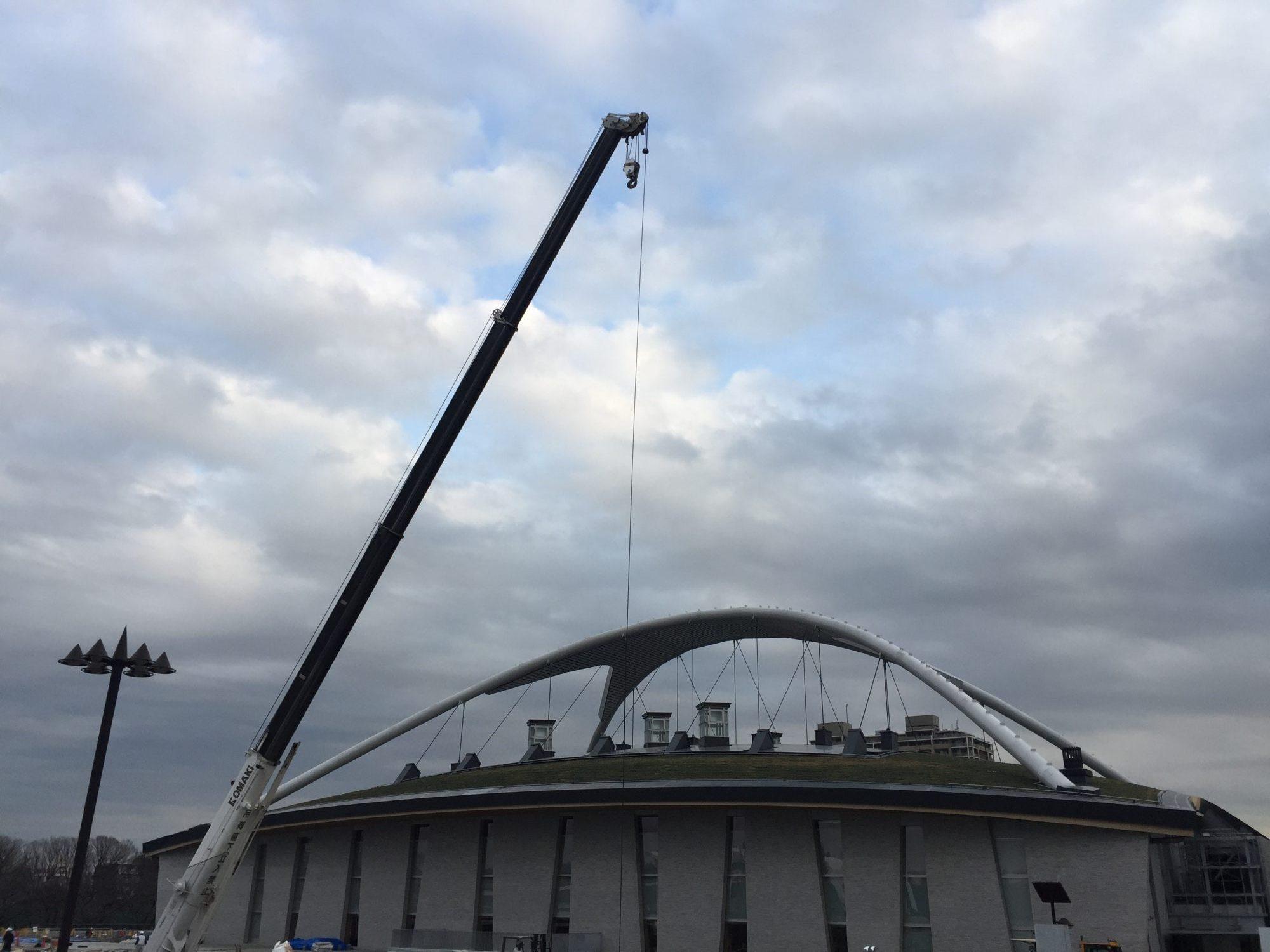 駒沢オリンピック公園建設中